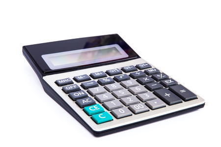 subtraction: calculator on a white background