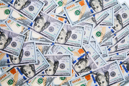 new 100 dollar bill isolated on a white background Stock Photo - 38093751