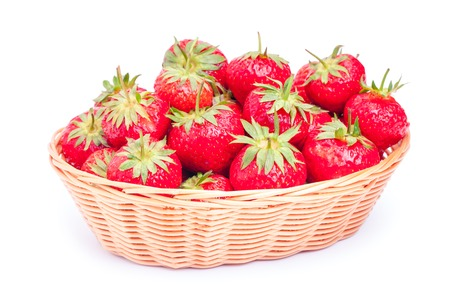 bacca: strawberry isolated on white background