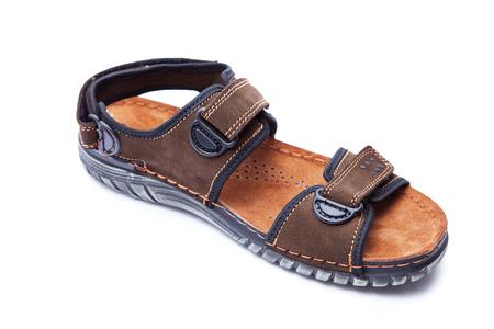 mens fashion: New mens fashion sandal isolated on white background