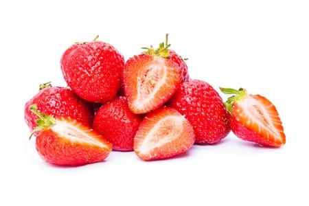 frutilla: fresa aislados en fondo blanco