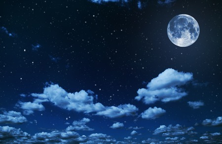 phase: backgrounds night sky with stars and moon and clouds. wood. Elements of this image furnished by NASA