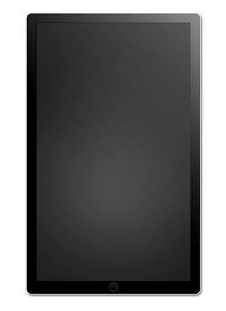 pc: Black tablet pc isolated