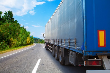 range of motion: truck on a highway Stock Photo