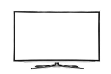 4k-monitor op wit wordt geïsoleerd Stockfoto - 52482792