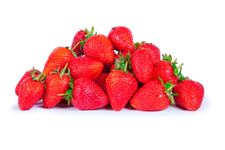 bacca: strawberries isolated on white background