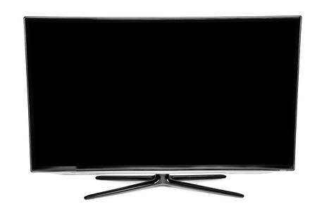 video wall: Computer monitor isolated on white