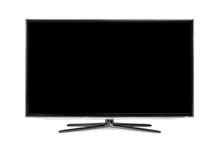 4k monitor isolated on white Stock Photo