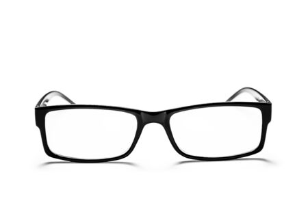 black eye glasses isolated on white background Banque d'images - 135491607