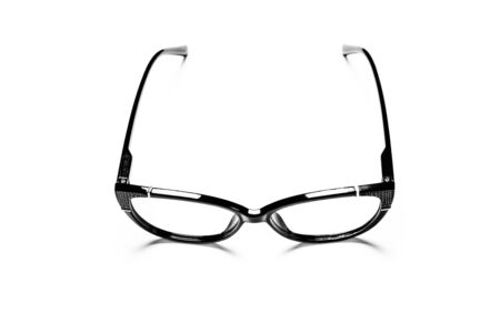black eye glasses isolated on white background Banque d'images - 135491642