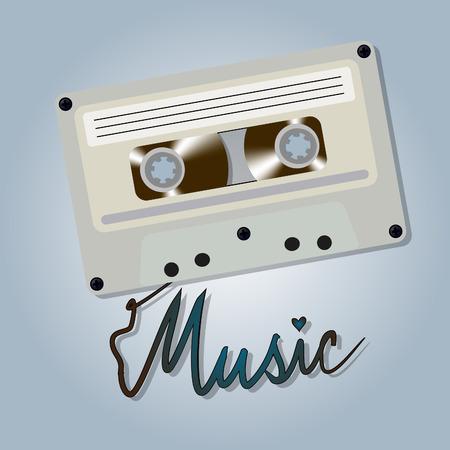 Cassette tape Иллюстрация