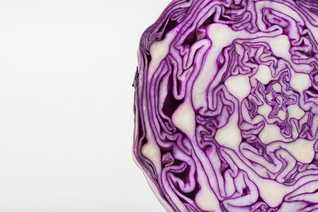 red cabbage: Red cabbage on white background