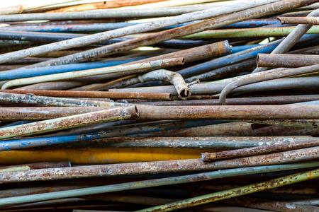 metal pipes: Old metal pipes