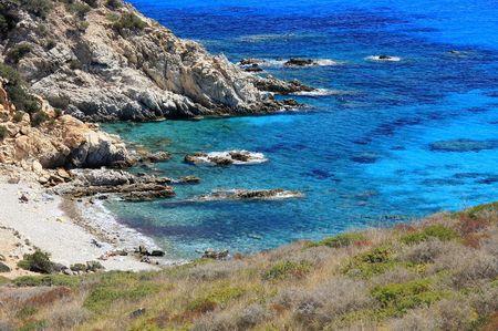 mediterraneo: Little cove of Villasimius - Sardinia - Italy Stock Photo