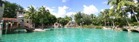 gables: Panoramic view of Venetian Pool - Miami - Florida