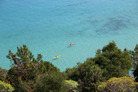 sardaigne: Kayak en Sardaigne - Italie Banque d'images