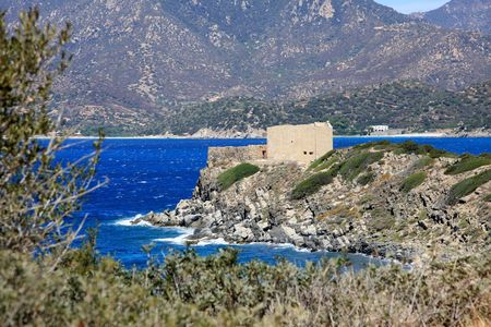 fortification: Ancient fortification called Forteza - Sardinia - Italy Stock Photo