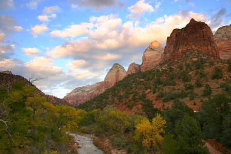 Autumn in Zion National Park - USA photo