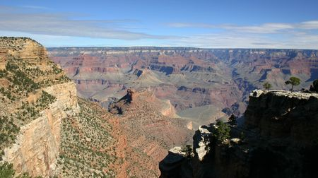 mohave: View of the Grand Canyon from Mohave Point Stock Photo