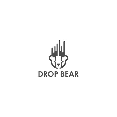 drop bear logo design vector