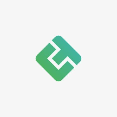CT letter logo design vector  イラスト・ベクター素材