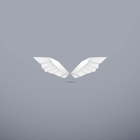 abstract and luxury wings -  logo design vector Ilustração