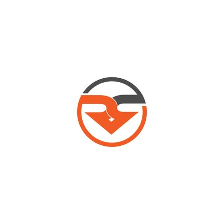 RS letter logo design vector