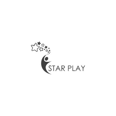 achieve the star , play logo design vector