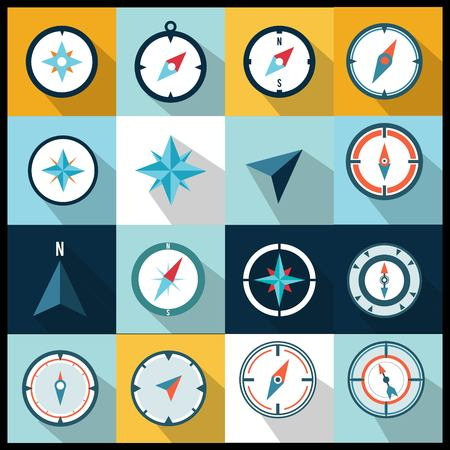 set of compass logo collection Ilustrace