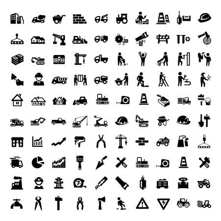 business real estate and construction icon - logo design vector Ilustração