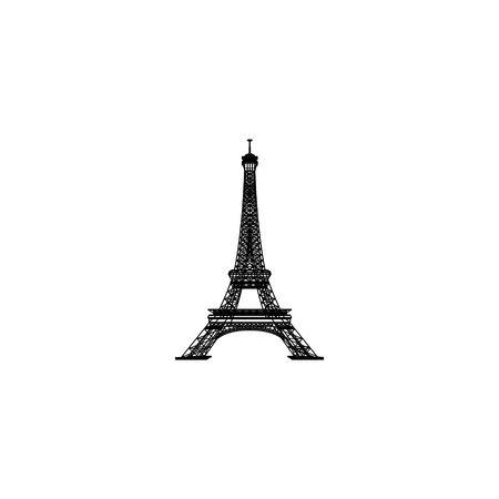 eifell logo design vector Illustration