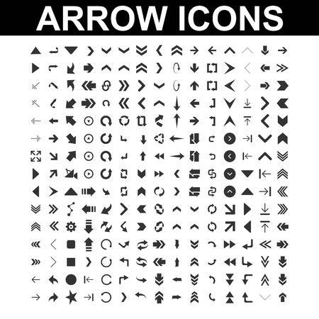 set of arrow mega collection - logo design vector