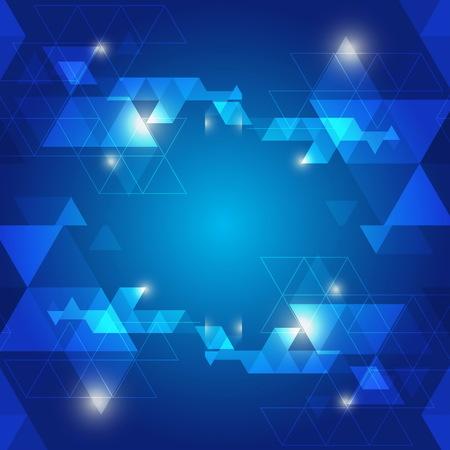 abstract blue background logo design vecto