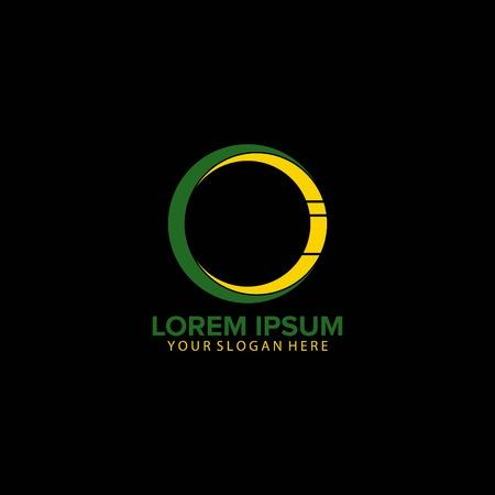 CI letter circle logo design vector