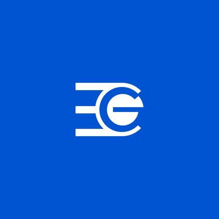 EG letter logo design vector