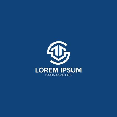 SM letter logo design vector