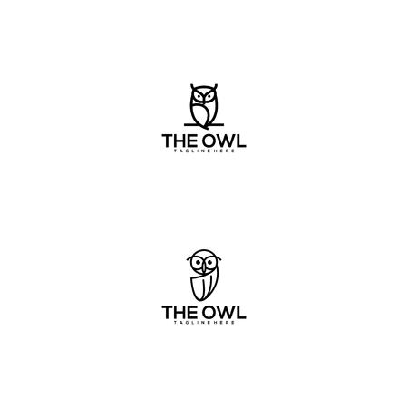 the owl logo design vector Vettoriali