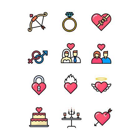 set of happy birthday icon symbol - logo design vector