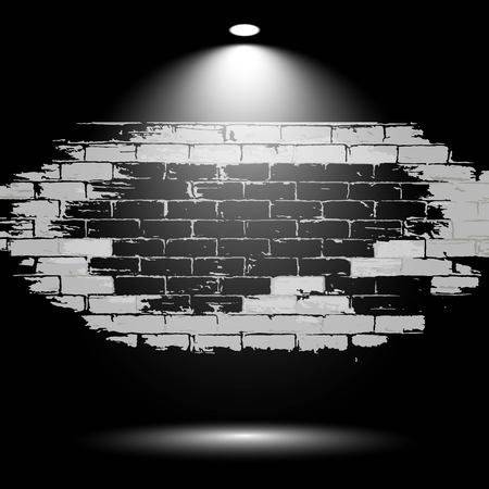 abstract wall brick background - logo design vector