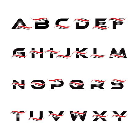 set of alphabet initial logo design vector Иллюстрация