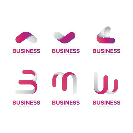 abstract business and company logo design vector