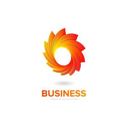 abstract circle logo design vector Иллюстрация