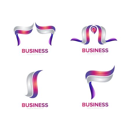 abstract logo element logo design vector Иллюстрация