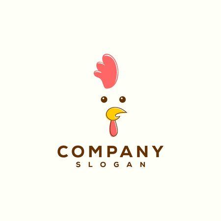 modern chicken logo design vector Иллюстрация