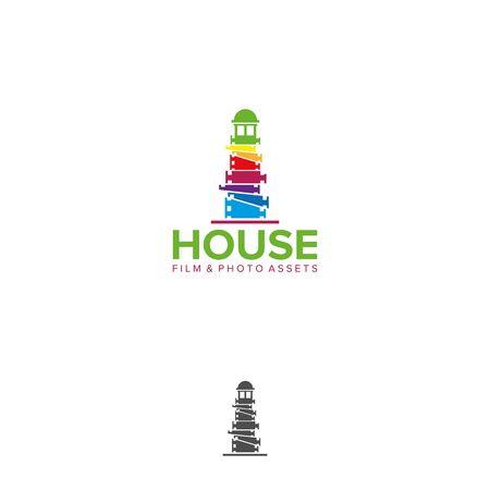 lighthouse media logo design vector