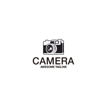 retro vintage camera classic logo Иллюстрация