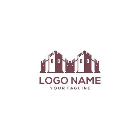 modern and creative castle logo design vector Иллюстрация