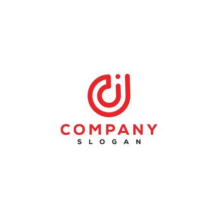 Id letter logo design vector Иллюстрация