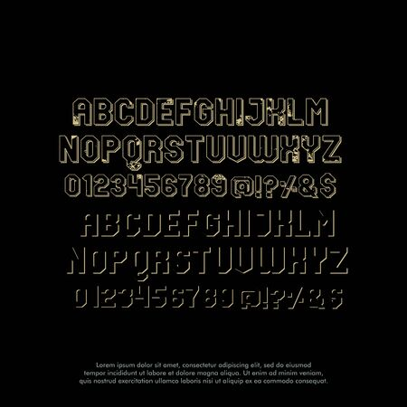 classic font alphabet logo design vector