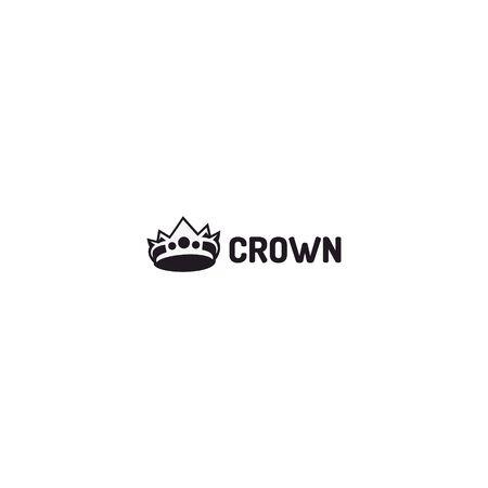 retro crown logo design vector Иллюстрация